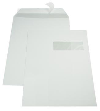 Gallery enveloppen ft 229 x 324 mm, venster rechts, stripsluiting, binnenzijde grijs, doos van 250 stuks