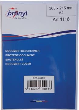 Bronyl U-mapje uit transparante PVC van 180 micron, ft A4