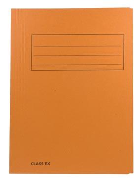 Class'ex dossiermap, 3 kleppen ft 23,7 x 34,7 cm (voor ft folio), oranje