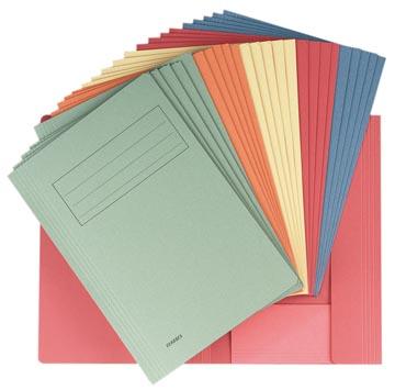 Class'ex dossiermap, 3 kleppen ft 23,7 x 32 cm (voor ft A4), geassorteerde kleuren
