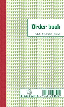Exacompta orderbook, ft 17,5 x 10,5 cm, tripli (50 x 3 vel)