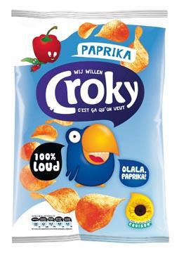 Croky chips paprika, zakje van 100 gram