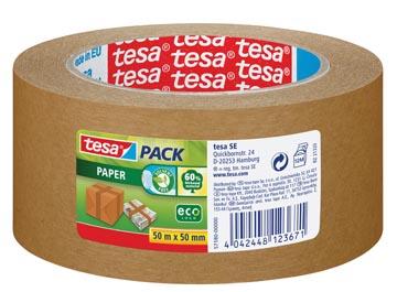 Tesa verpakkingsplakband Paper, ft 50 mm x 50 m, papier, bruin