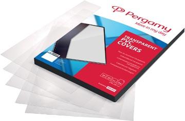 Pergamy omslagen uit transparante PVC ft A4, 250 micron, pak van 100 stuks