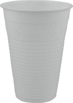 Automaatbeker uit polystyreen voor warme dranken, 180 ml, wit, pak van 100 stuks
