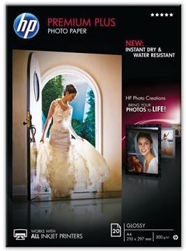 HP Premium Plus fotopapier ft A4, 300 g, pak van 20 vel, glanzend