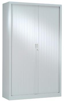 Roldeurkast, hoogte 198 cm, lichtgrijs