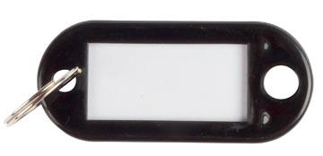 Q-Connect sleutelhanger, pak van 10 stuks, zwart