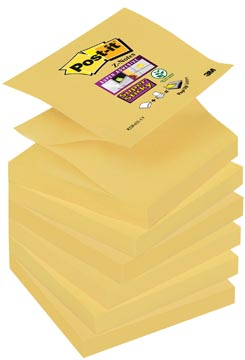 Post-it Super Sticky Z-Notes, ft 76 x 76 mm, geel, blok van 90 vel