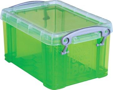 Really Useful Box visitekaarthouder 0,3 liter, transparant groen