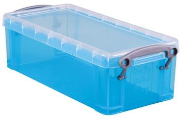 Really Useful Box 0,9 liter, transparant helblauw