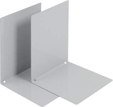 V-Part Boekensteun metaal, set van 2 stuks, grijs