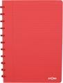 Atoma schrift Trendy ft A4, gelijnd, transparant rood