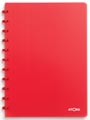 Atoma schrift Trendy ft A4, geruit 5 mm, transparant rood
