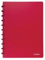 Atoma schrift Trendy ft A4, commercieel geruit, transparant rood