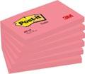 Post-it Notes, ft 76 x 127 mm, neonroze, blok van 100 vel