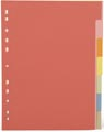 Pergamy tabbladen ft A4, 11-gaatsperforatie, extra sterk karton, geassorteerde kleuren, 7 tabs